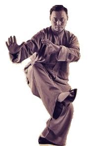 Tai Chi fraudster striking a pose